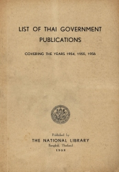 List of Thai Government Publications Covering The Years …