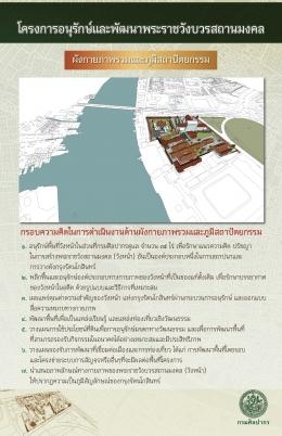 นิทรรศการโครงการอนุรักษ์และพัฒนาพระราชวังบวรสถานมงคล (นิทรรศการผังกายภาพรวม)